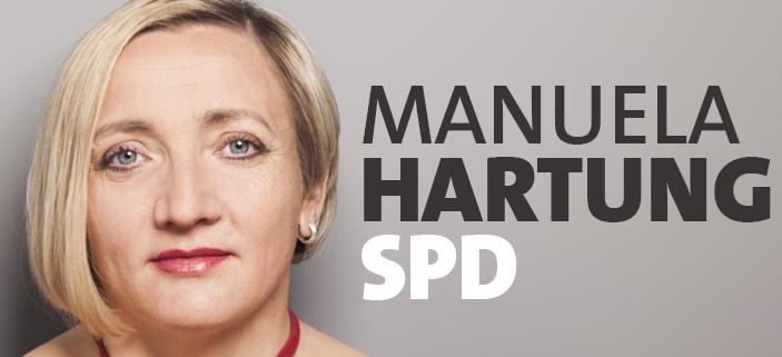 Manuela Hartung Porträt schrift
