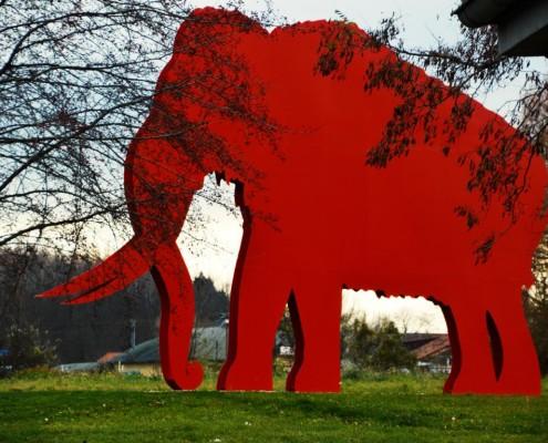 Das Mammut vor der Pfännerhall